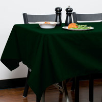 Intedge 54 inch x 120 inch Rectangular Forest Green Hemmed Polyspun Cloth Table Cover