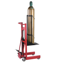 Wesco Industrial Products 260161 300 lb. 4 Wheel Hydraulic Cylinder Pedalift with 12 inch x 20 inch Platform and 40 inch Lift Height