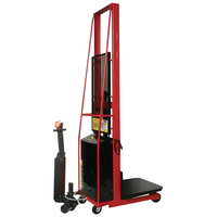 Wesco Industrial Products 261024-PD 1000 lb. Power Lift Platform Stacker with 24 inch x 24 inch Platform, 80 inch Lift Height, and Power Drive