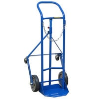 Wesco Industrial Products 210123 250 lb. Single Cylinder Truck with (2) 8 inch Rubber Wheels and (2) 3 inch Casters
