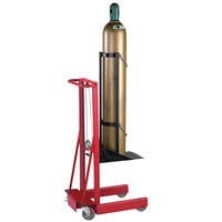 Wesco Industrial Products 260163 300 lb. 4 Wheel Winch Cylinder Pedalift with 12 inch x 20 inch Platform and 40 inch Lift Height