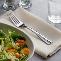 Acopa Ridge 6 3/4 inch 18/0 Stainless Steel Heavy Weight Salad Fork - 12/Case