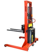 Wesco Industrial Products 261046 2000 lb. Hydraulic Power Lift Fork Stacker with 30 inch Forks and 86 inch Lift Height