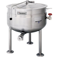 Cleveland KDL-60-F 60 Gallon Stationary Full Steam Jacketed Direct Steam Kettle