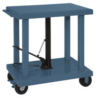 Wesco Industrial Products 260062 24 inch x 36 inch Medium Duty Lift Table with Swivel Casters - 2000 lb. Capacity
