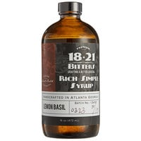 18.21 Bitters 16 fl. oz. Lemon Basil Concentrated Syrup