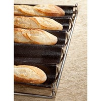 Sasa Demarle Fibermax DF660457-5-01 5 Loaf Baguette / French Bread Pan - 26 inch x 3 inch x 1 1/2 inch Compartments