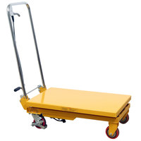 Wesco Industrial Products 260207 20 inch x 32 inch Folding Handle Scissor Lift Table with 35 inch Lift Height - 660 lb. Capacity