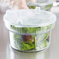 Carlisle 703907 1.9 Qt. Clear Gourmet Crock with Lid