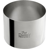 Fat Daddio's SSRD-32375 ProSeries 3 inch x 2 3/8 inch Stainless Steel Round Cake / Food Ring Mold