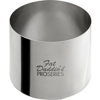 Fat Daddio's SSRD-25175 ProSeries 2 1/2 inch x 1 3/4 inch Stainless Steel Round Cake / Food Ring Mold