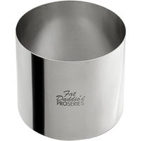 Fat Daddio's SSRD-3530 ProSeries 3 1/2 inch x 3 inch Stainless Steel Round Cake / Food Ring Mold