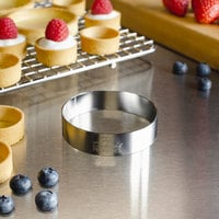 Fat Daddio's SSRD-3075 ProSeries 3 inch x 3/4 inch Stainless Steel Round Tartlet Ring / Food Ring Mold