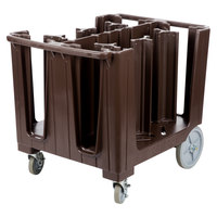 Cambro ADCS131 S Series Adjustable Dark Brown Dish Caddy with Vinyl Cover - 6 Column