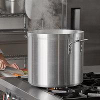 Carlisle 61232 32 Qt. Standard Weight Aluminum Stock Pot
