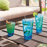 Arcoroc FM400 Outdoor Perfect 10 oz. Blue SAN Plastic Rocks / Old Fashioned Glass by Arc Cardinal   - 36/Case