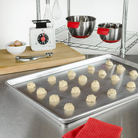 Fat Daddio's SP-FULL Full Size 18 inch x 26 inch 18-Gauge Wire in Rim Aluminum Bun Pan / Sheet Pan