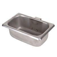 Exhaust Hood Grease Trap Pan - 6 3/4 inch x 4 1/4 inch x 2 1/2 inch