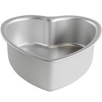 Fat Daddio's PHT-83 ProSeries 8 inch x 3 inch Anodized Aluminum Heart Shaped Cake Pan