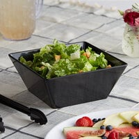 Acopa Rittenhouse 112 oz. Square Black Melamine Bowl