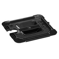 Vigor 1/6 Size Black Polycarbonate Food Pan Lid with Notch and Handle