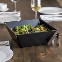 Acopa Rittenhouse 215 oz. Square Black Melamine Bowl - 6/Case