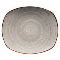 Corona by GET Enterprises PP1607722912 Artisan 12 inch Grey Oval Porcelain Coupe Plate - 12/Case