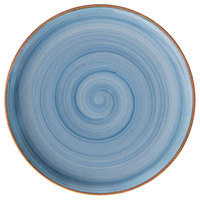 Corona by GET Enterprises PA1604712812 Artisan 11 inch Blue Porcelain Coupe Plate   - 12/Case