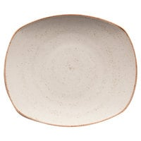 Corona by GET Enterprises PP1605722612 Artisan 10 inch Beige Oval Porcelain Coupe Plate - 12/Case