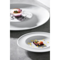Corona by GET Enterprises PA1101981724 Gotas 6 11/16 inch Bright White Porcelain Plate - 24/Case
