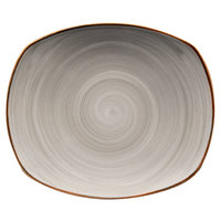 Corona by GET Enterprises PP1607722024 Artisan 7 1/2 inch Grey Oval Porcelain Coupe Plate - 24/Case