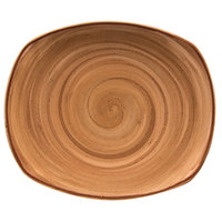Corona by GET Enterprises PP1606722024 Artisan 7 1/2 inch Brown Oval Porcelain Coupe Plate - 24/Case