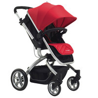 L.A. Baby SG-JS208B1-RB Red Oak St. Red and Black Stroller