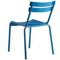 Lancaster Table & Seating Blue Powder Coated Aluminum Outdoor Side Chair