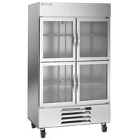 Beverage-Air HBF44HC-1-HG 47 inch Horizon Glass Half Door Bottom Mounted Reach-In Freezer