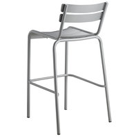 Lancaster Table & Seating Silver Powder Coated Aluminum Outdoor Barstool