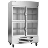 Beverage-Air HBF49HC-1-HG 52 inch Horizon Glass Half Door Bottom Mount Reach-In Freezer
