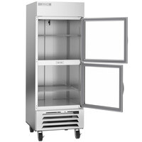 Beverage-Air HBF27HC-1-HG 30 inch Horizon Glass Half Door Bottom Mount Reach-In Freezer