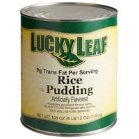 Lucky Leaf #10 Can Trans Fat Free Premium Rice Pudding - 3/Case