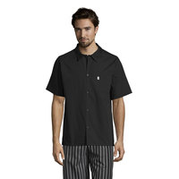 Uncommon Threads 0920 Black Customizable Classic Short Sleeve Cook Shirt - L