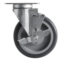 CaterGator 5 inch Swivel Caster with Brake for CaterGator 125 lb. Mobile Ice Bins
