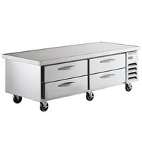 Beverage-Air WTRCS72HC-76 76 inch 4 Drawer Refrigerated Chef Base with 4 inch Overhang