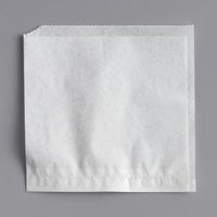 Choice 5 inch x 5 inch White Double Open Bag - 2000/Case