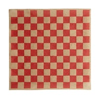 Choice 12 inch x 12 inch Kraft Red Check Deli Sandwich Wrap Paper - 1000/Pack