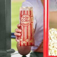 Carnival King 3 1/2 inch x 2 1/4 inch x 8 1/4 inch 1 oz. Kraft Popcorn Bag - 1000/Case