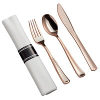 Gold Visions Rose Plastic Cutlery / Utensils