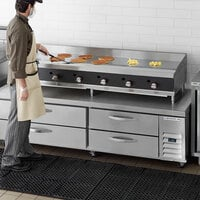Cooking Performance Group 72N Ultra Series 72 inch Heavy-Duty Chrome Plated Natural Gas 6-Burner Countertop Griddle - 180,000 BTU