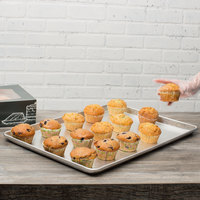 Chicago Metallic 40917 Textured Silver Full Size Bakery Display Tray - 18 inch x 26 inch