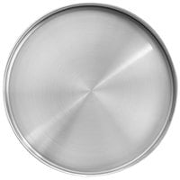 Front of the House DOS034BSS21 Soho 12 1/4 inch Brushed Stainless Steel Round Plate with Raised Rim - 4/Case