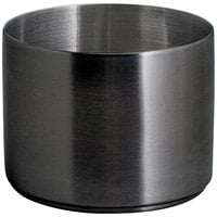 Front of the House DSD072BKS23 Soho 9 oz. Matte Black Brushed Stainless Steel Round Ramekin - 12/Case